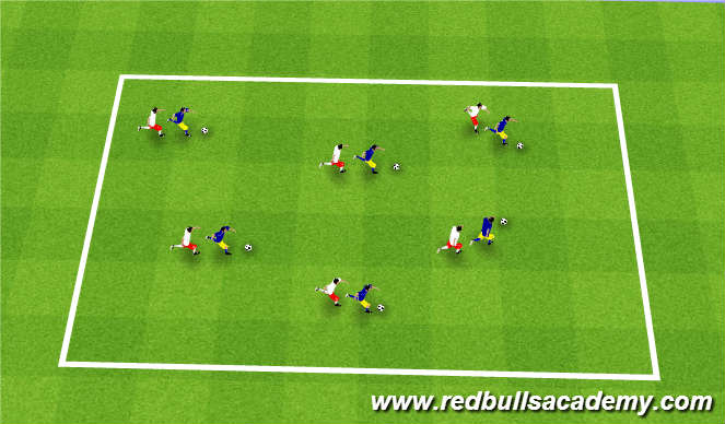 Football/Soccer Session Plan Drill (Colour): follow the leader/shadows