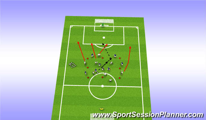 Football/Soccer Session Plan Drill (Colour): 8v8 Counter attacking