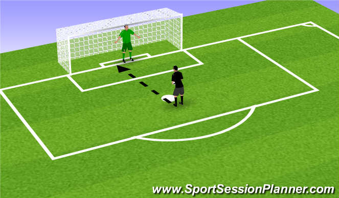 Football/Soccer Session Plan Drill (Colour): Introductie oefening #3