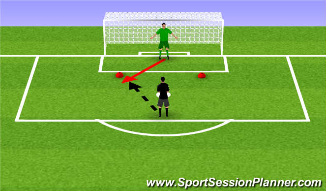 Football/Soccer Session Plan Drill (Colour): Introductie oefening #4