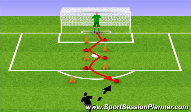 Football/Soccer Session Plan Drill (Colour): Introductie 2 oefening #2