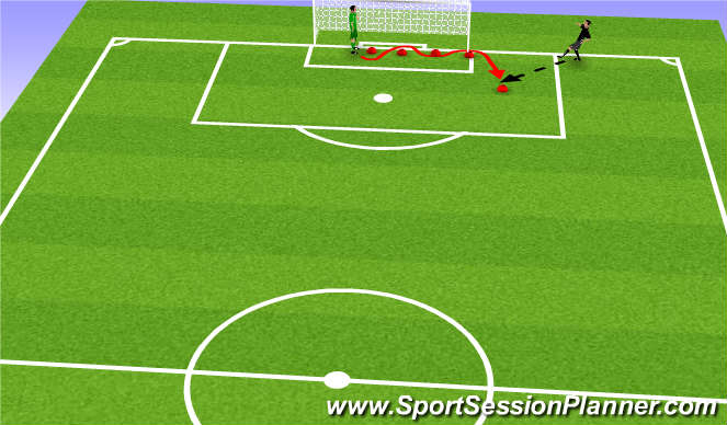 Football/Soccer Session Plan Drill (Colour): Introductie 2 oefening #3