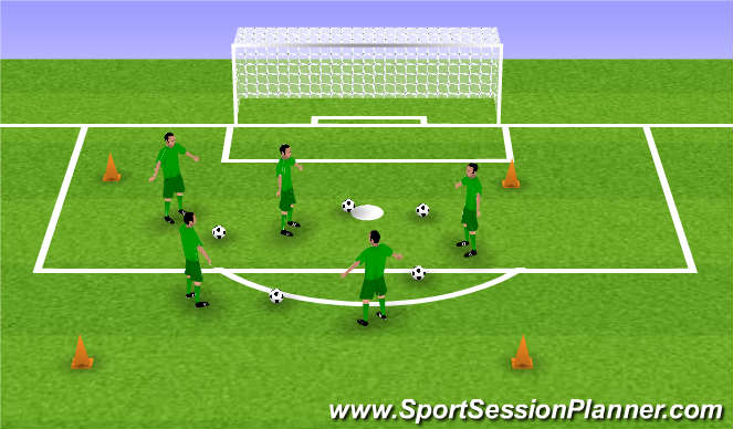 Football/Soccer Session Plan Drill (Colour): Spelvorm #1