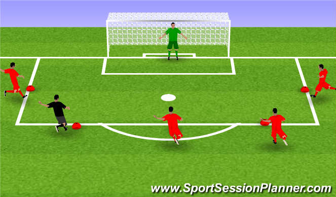 Football/Soccer Session Plan Drill (Colour): Spelvorm #3
