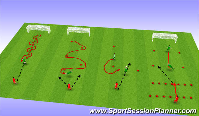 Football/Soccer Session Plan Drill (Colour): Drill 1 - Handling