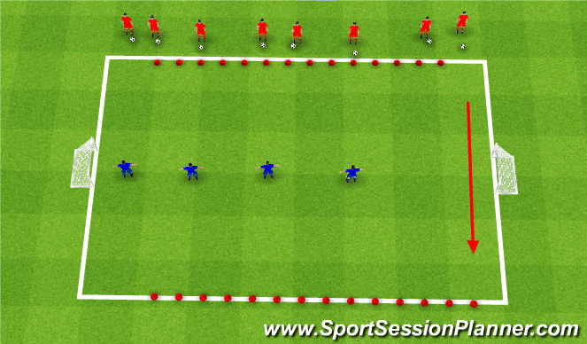Football/Soccer Session Plan Drill (Colour): Hungry Dinosaur