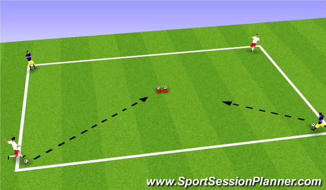 Football/Soccer Session Plan Drill (Colour): Striking Game