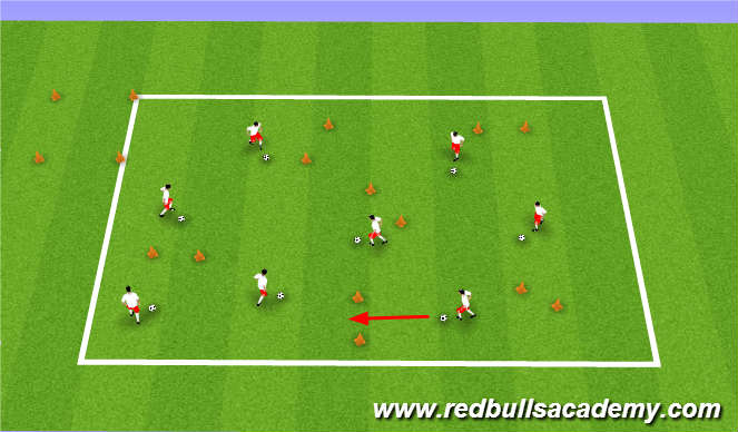 Football/Soccer Session Plan Drill (Colour): Gate Keeper