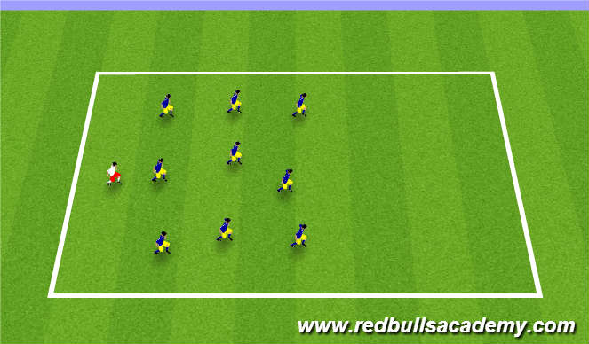 Football/Soccer Session Plan Drill (Colour): Blob Tag