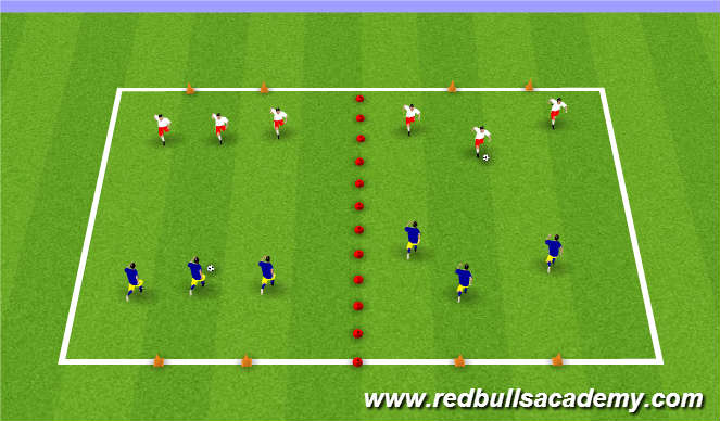 Football/Soccer Session Plan Drill (Colour): Real Game