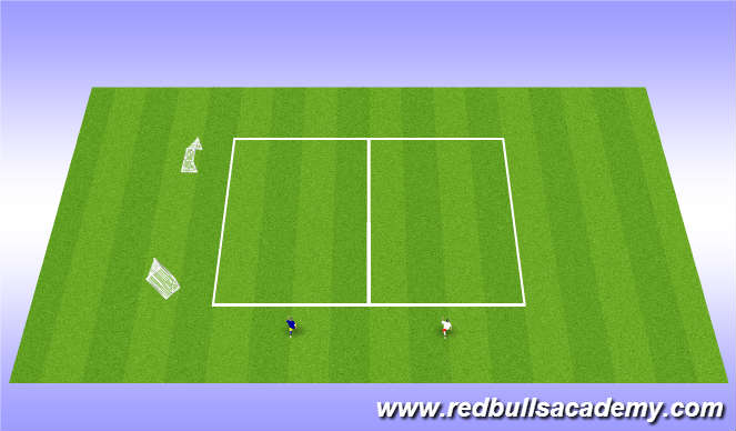 Football/Soccer Session Plan Drill (Colour): Stop-Starts