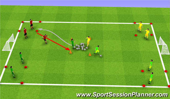 Football/Soccer Session Plan Drill (Colour): Pirate's Treasure