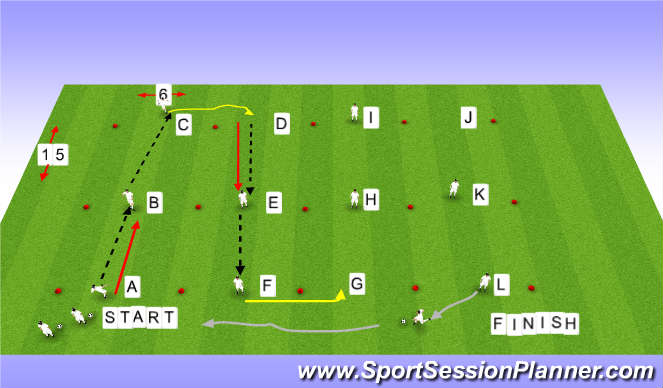 Football/Soccer Session Plan Drill (Colour): Passing/Receiving