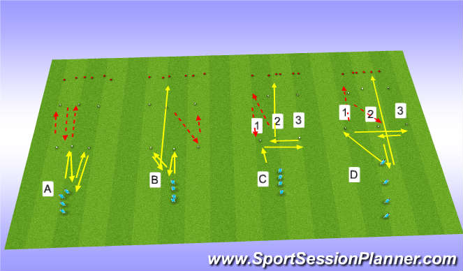 Football/Soccer Session Plan Drill (Colour): Speed drills 2