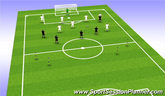 Football/Soccer Session Plan Drill (Colour): possession and quick reaction