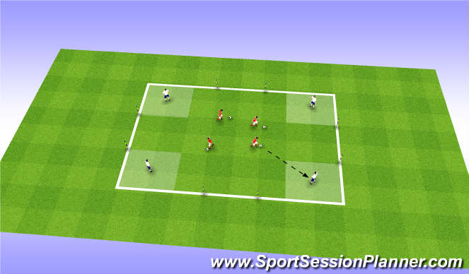 Football/Soccer Session Plan Drill (Colour): Tech/Skill