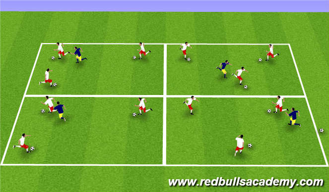 Football/Soccer Session Plan Drill (Colour): Warm Up-500
