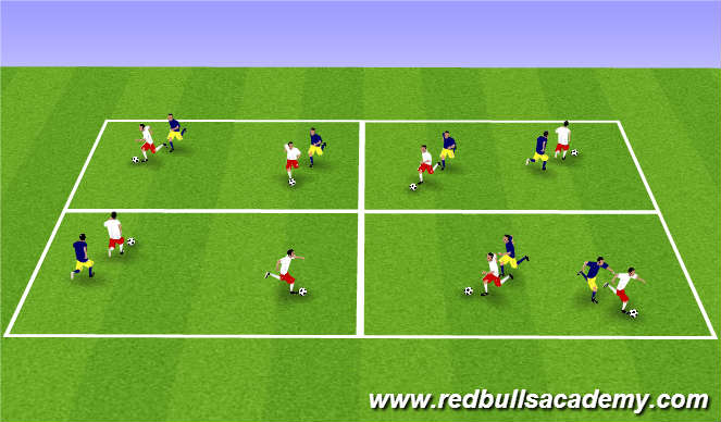 Football/Soccer Session Plan Drill (Colour): Main Theme-503