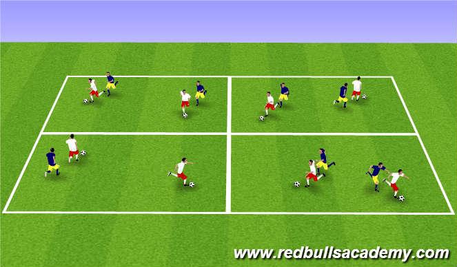 Football/Soccer Session Plan Drill (Colour): Main Theme-503