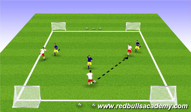Football/Soccer Session Plan Drill (Colour): Conditioned Game-509