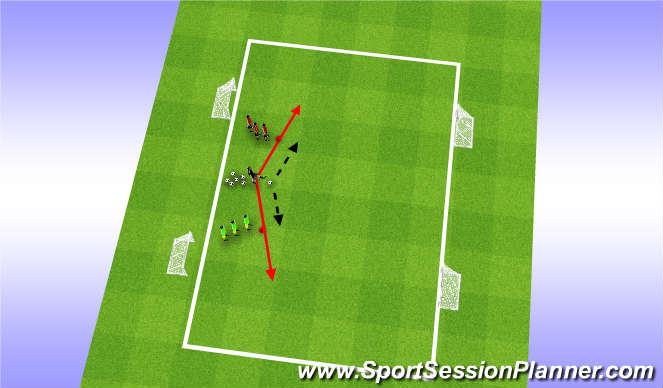 Football/Soccer Session Plan Drill (Colour): Get Out Of Here, to coach