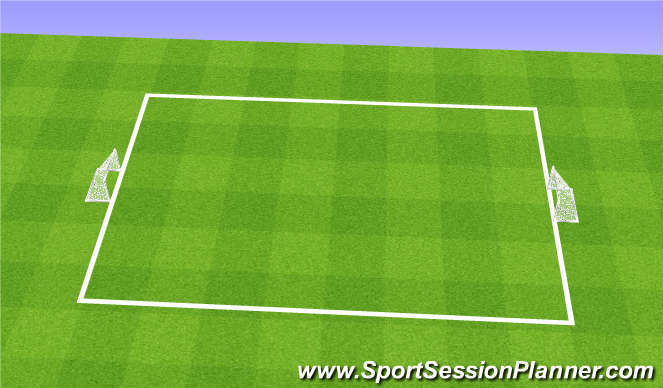 Football/Soccer Session Plan Drill (Colour): Field Set Up - 2 Goal