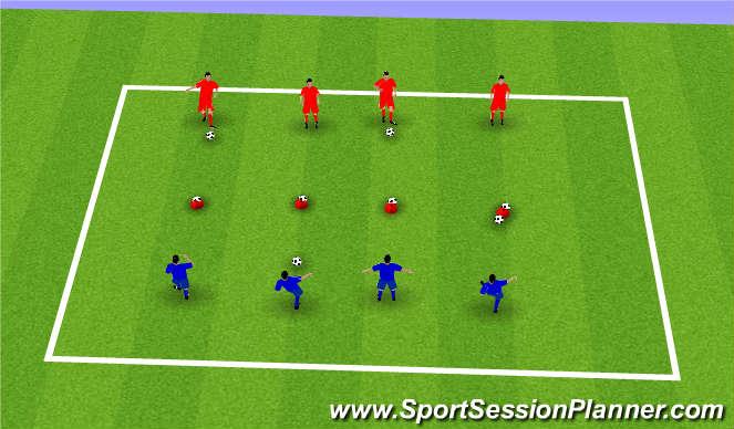 Football/Soccer Session Plan Drill (Colour): Battleships