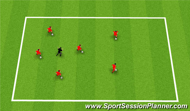 Football/Soccer Session Plan Drill (Colour): The Octopus