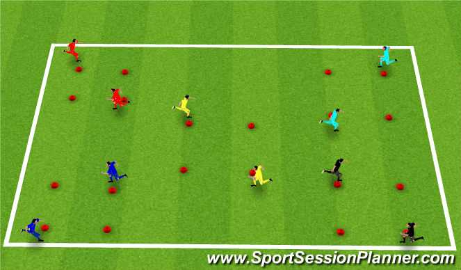 Football/Soccer Session Plan Drill (Colour): Chase