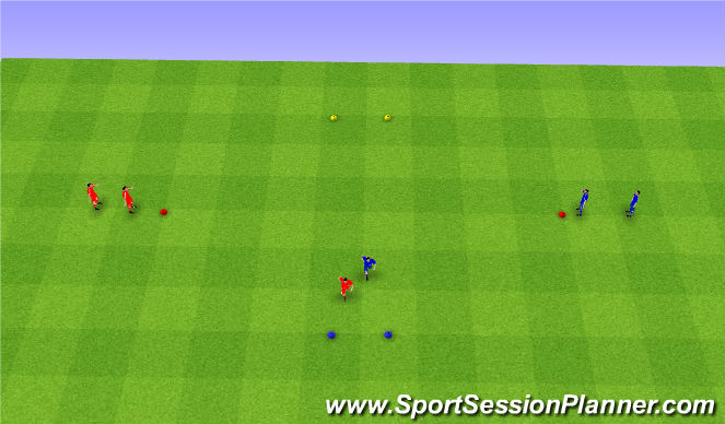 Football/Soccer Session Plan Drill (Colour): Reaction race warm up