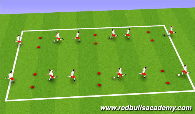 Football/Soccer Session Plan Drill (Colour): 100 passes game
