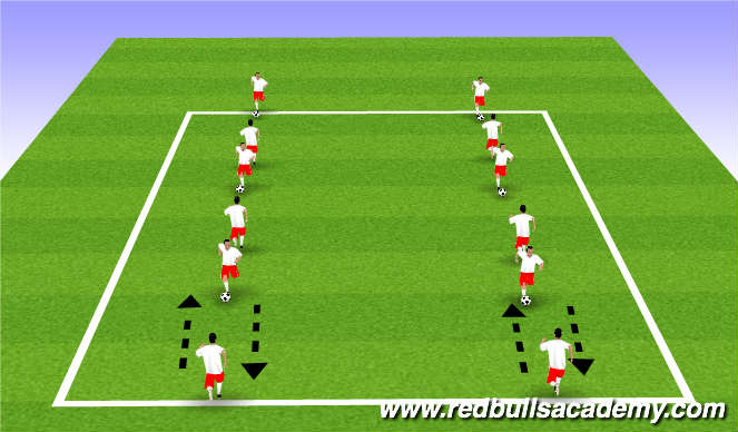 Football/Soccer Session Plan Drill (Colour): Box passes