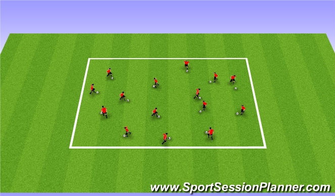 Football/Soccer Session Plan Drill (Colour): Technical Box