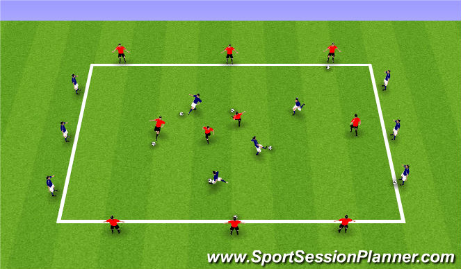 Football/Soccer Session Plan Drill (Colour): Switch Warm Up