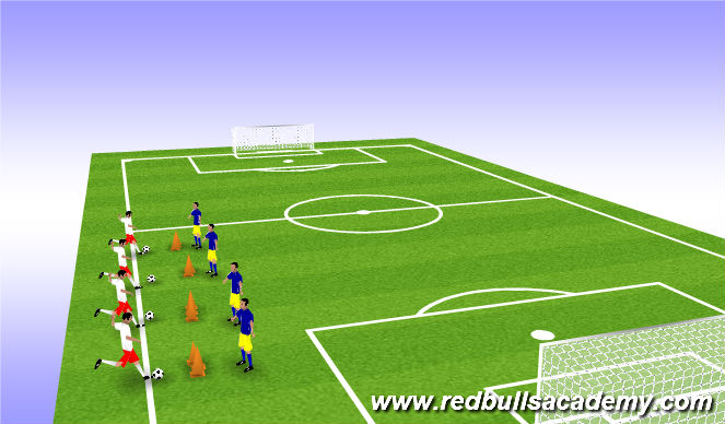 Football/Soccer Session Plan Drill (Colour): Warm up-passing