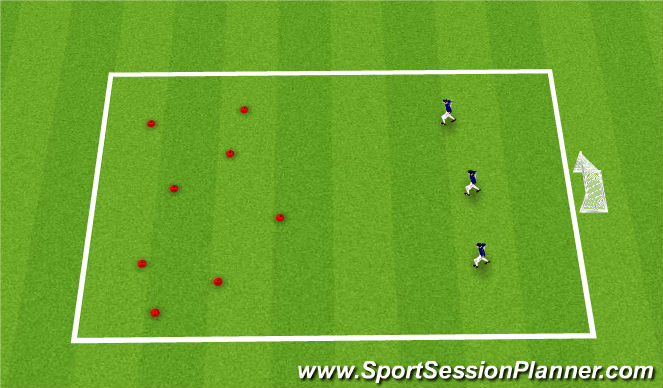Football/Soccer Session Plan Drill (Colour): Tresure chest
