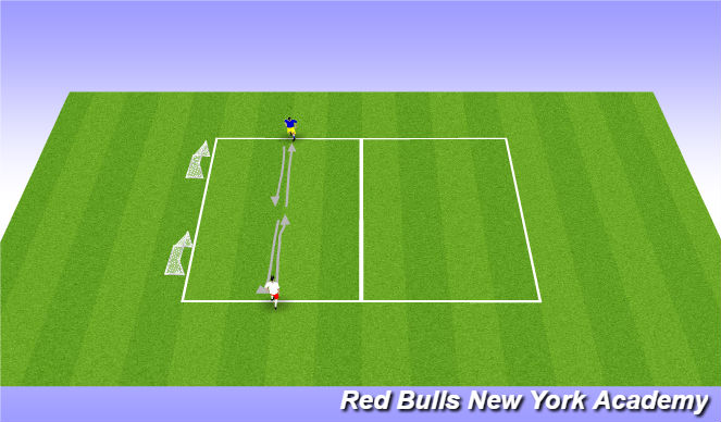 Football/Soccer Session Plan Drill (Colour): Stop Turn I