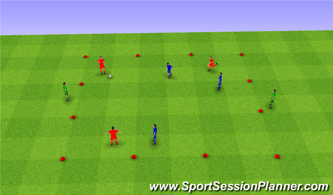 Football/Soccer Session Plan Drill (Colour): Team possession