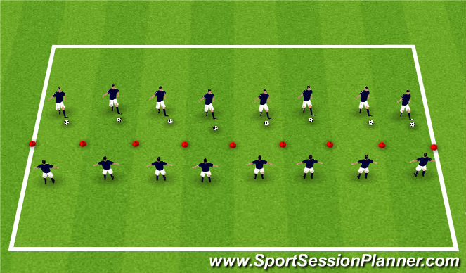 Football/Soccer Session Plan Drill (Colour): Passing Intro