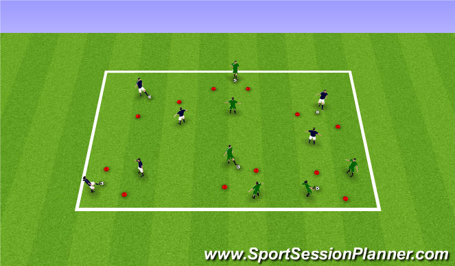 Football/Soccer Session Plan Drill (Colour): Competitive Gate Passing