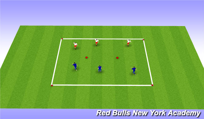Football/Soccer Session Plan Drill (Colour): warm up-flag football