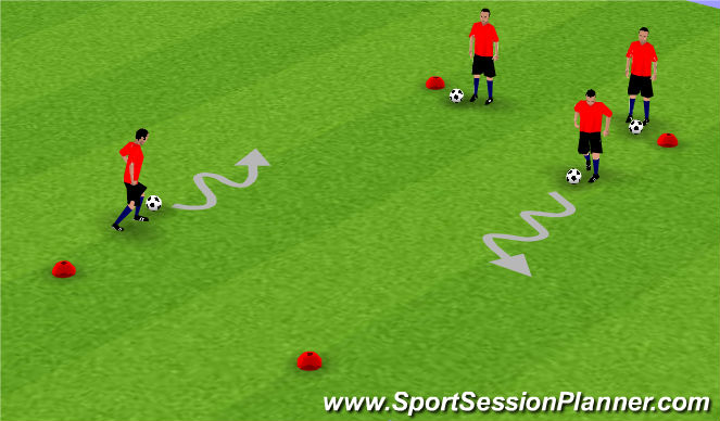 Football/Soccer Session Plan Drill (Colour): Individual Dribbling