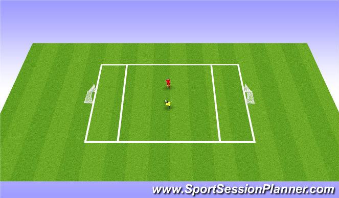 Football/Soccer Session Plan Drill (Colour): 1v1 - Skill Intro
