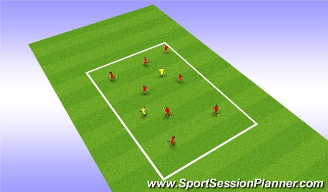 Football/Soccer Session Plan Drill (Colour): bib tag