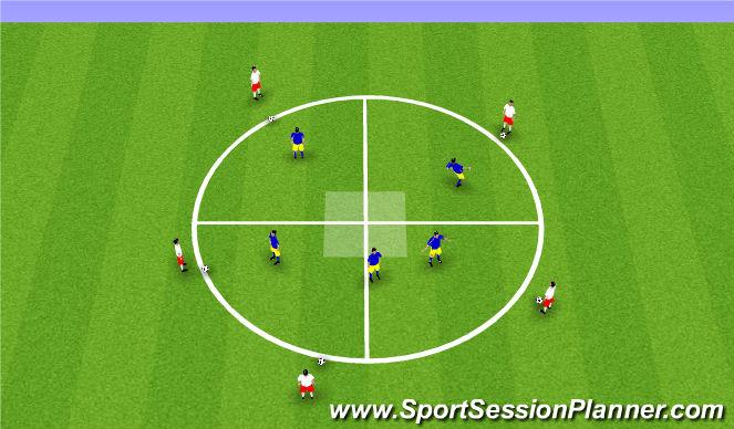 Football/Soccer Session Plan Drill (Colour): Block 1 - Tech - circle drill