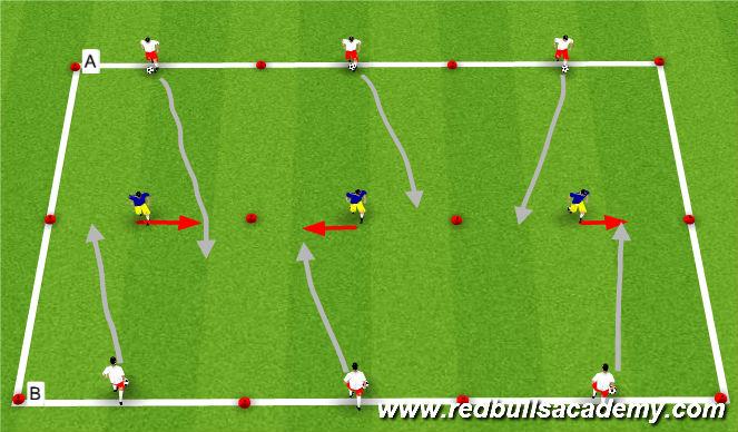 Football/Soccer Session Plan Drill (Colour): Dribbling Main theme pt 2
