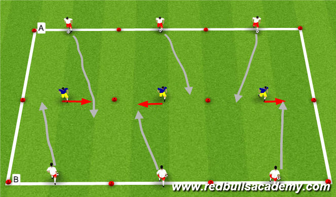 Football/Soccer Session Plan Drill (Colour): Dribbling Main theme pt 2