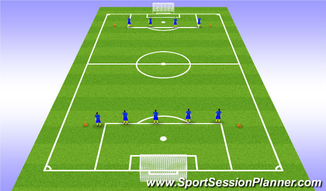 Football/Soccer Session Plan Drill (Colour): Fitness 60