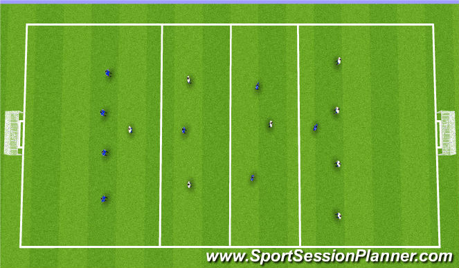 Football/Soccer Session Plan Drill (Colour): 8 vs. 8