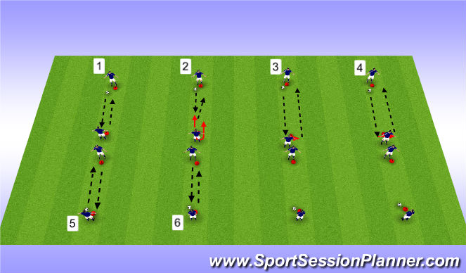 Football/Soccer Session Plan Drill (Colour): Pass & Rec Tech